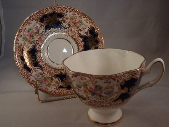 Vintage Salisbury Fine Bone China Tea Cup and Saucer Set