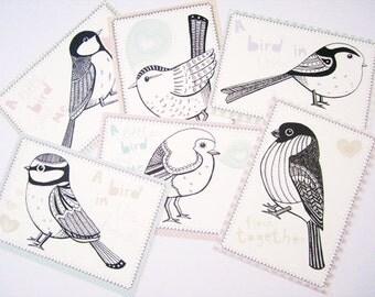 British Garden Birds Postcards set of 6