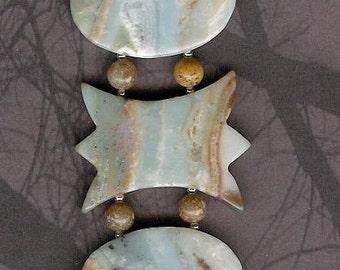 Bracelet - Amazonite, Autumn Jasper, Sterling Silver