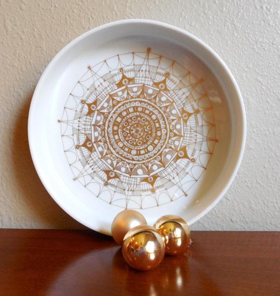 rosenthal baumann studio line white porcelain console bowl dish