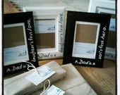 "A Dad is a daughter's first love/Son's First Hero- Father's Day, Father of the Bride 4x6""/3.5x5"" Matted Picture frame"