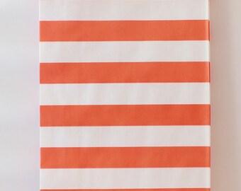 Paper Bags, Orange Favor Treat Bags, Carnival Birthday, Wedding Candy Bags, Orange Paper Bags, Striped Paper Bags, Small Paper Bags