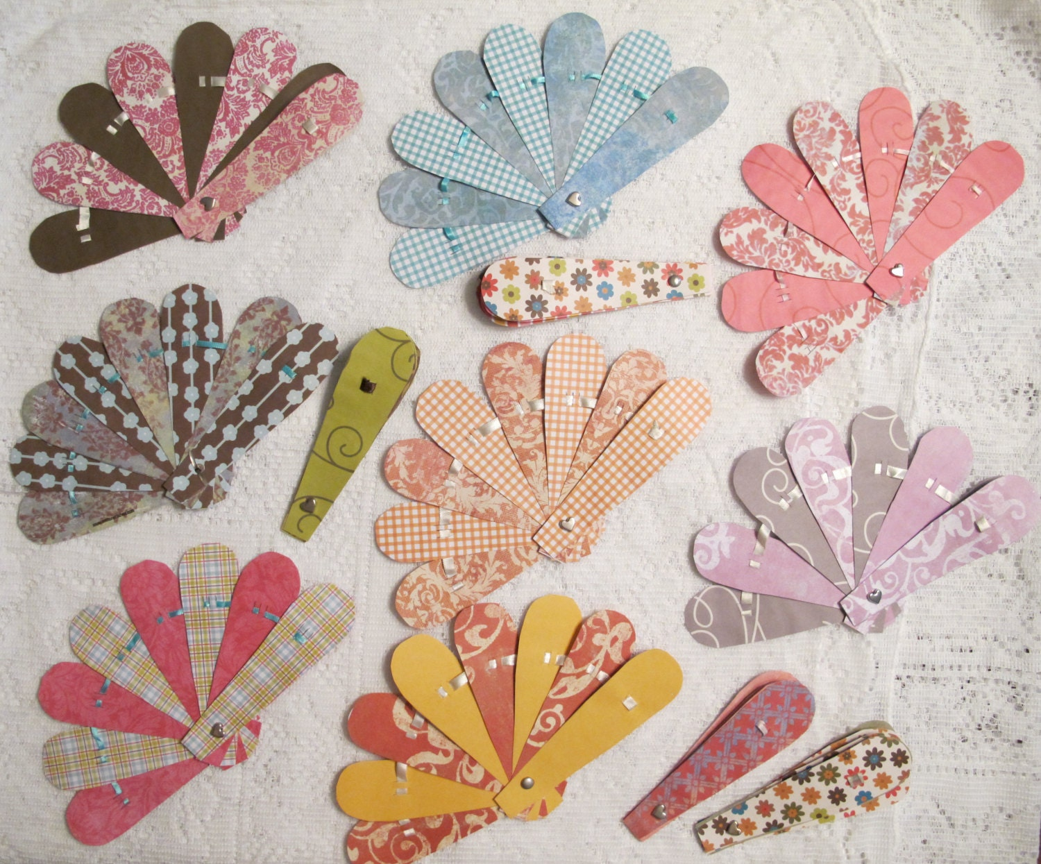 Wedding Favor Paper Fans Set Of 60 For Birthday Parties Or