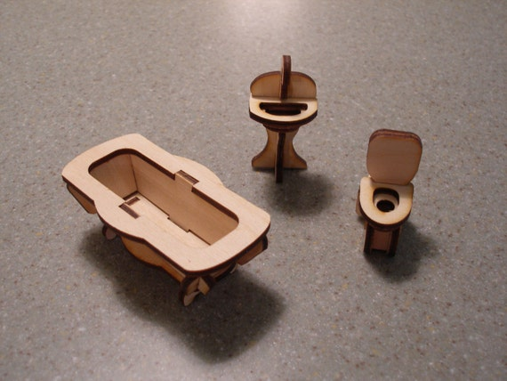 Elegant Bathroom Furniture Dollhouse Miniature Toy Children Giftsin Furniture