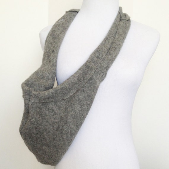 Scarf dog sling pet carrier in grey by heartpup - Pattern for dog carrier sling ...