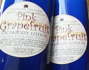 Lotion: Pink Grapefruit 8oz - made by Eczema sufferer