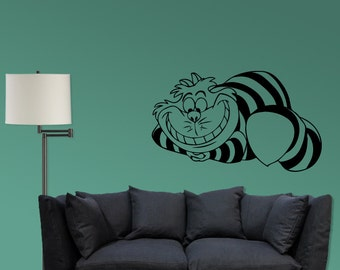Cheshire Inspired Striped Cat Vinyl Decal