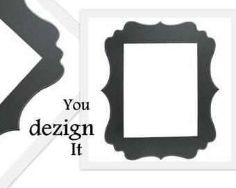 Scalloped Framed Chalk Board Wedding Magnetic Bulletin Board Dry Erase Board Office Teen Fabric PIn Board Curvy 16inx20in