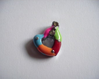 Metal pendant, heart (265)