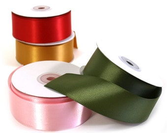 Double Face Wide Satin Ribbon - Pick Your Colour -  Wedding & Event Supplies