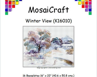 MosaiCraft Pixel Craft Mosaic Art Kit 'Winter View' (Like Mini Mosaic and Paint by Numbers)