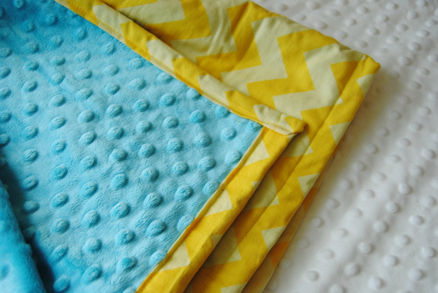 yellow and turquoise crib bedding blanket by theamberroseemporium. Black Bedroom Furniture Sets. Home Design Ideas