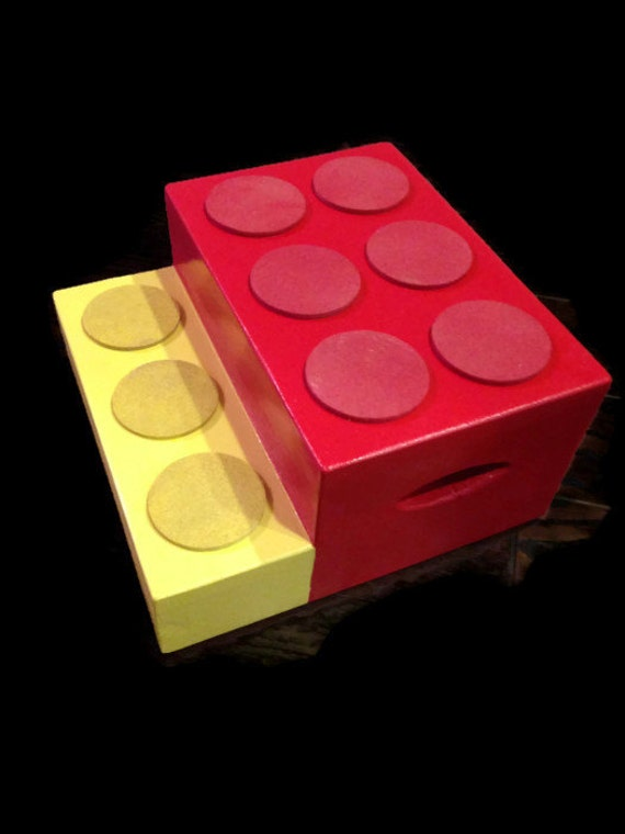 Building Block Step Stool from Wooderful Creations
