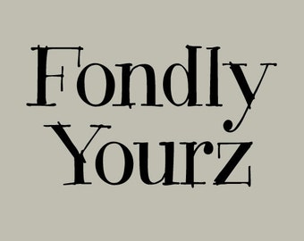Fondly Yourz Font