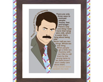 Unofficial Fan Art - Words to live by: Ron Swanson