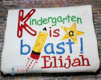 KINDERGARTEN BLAST Machine Embroidery Design