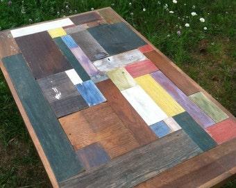 Patchwork Wood Scrap Table