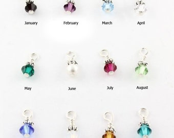 SALE - Swarovski Crystal Handwrapped Birthstone