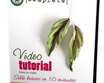 Video tutorial how to make silk leaves using japanese flower making tools
