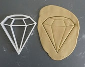 Diamond cookie cutter, 3D printed