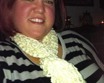 Very elegant cream colored scarf