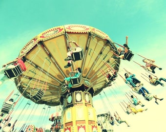 Summer Coney Island (New York) Carnival - Carnival Photograph - Kid's Room Decor - Nursery Wall Art