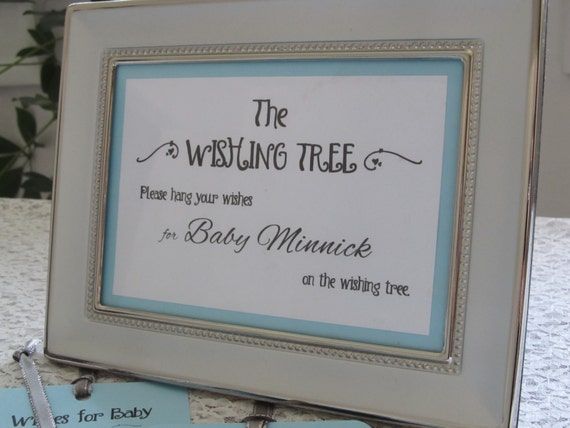 Wishing tree instruction card for baby by freespiritcrafting