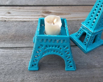 Cast Iron Large Eiffel Tower Candle Holder Romantic Home Decor