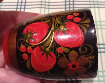 Khokhloma, Russian small vase.