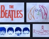 The Beatles, machine embroidery design pack.