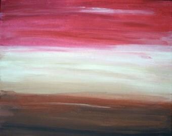 Desert Sunset - 8x10 or 12x16 fine art print signed by artist