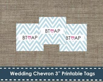 Chevron Wedding Shower Labels - DIY - Printable - 3 inch