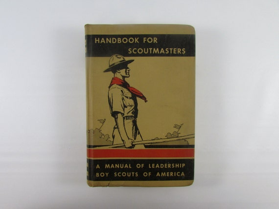 Vintage Boy Scouts of America - 1944 Handbook for Scout Masters