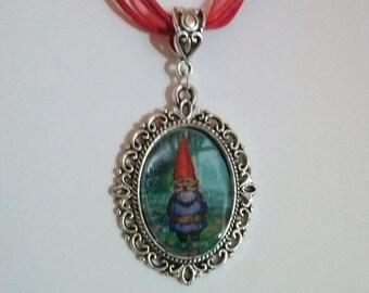 gnome necklace cabochon gnomes fairy charm david the gnome