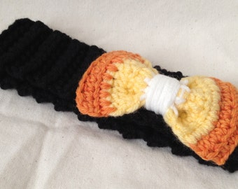 Candy Corn Bow Headband, made to order