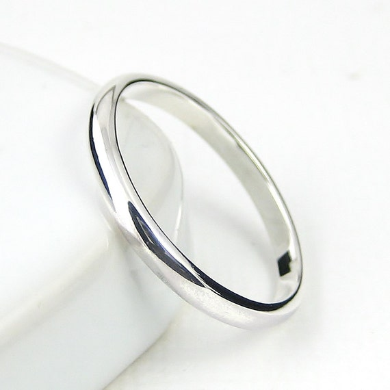 sterling silver ring simple band wedding band stacking ring