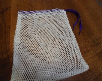 "Nylon Mesh Drawstring Bag - 8 x10 "" for Marbles Toys Travel Laundry etc."