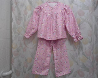 Size 4 Girls Pajama Sheep on Pink