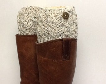 READY TO SHIP Women Knit  Boot Cuffs, Women Knit Boot Toppers, Stockings.Women Boot accesory, Leg Warmer, Textured and Stretchy, boot cuff