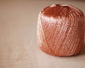 Lurex yarn - blush lurex thread  lame 550m - lace weight - for crocheting and embroidery