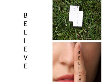 Believe - Temporary Tattoo (Set of 2)