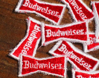 Vintage 70s Budweiser Beer Iron-On Patch