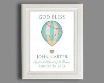 Christening Gift - Baptism Gift - Baby Boy Personalized Baptism  Print