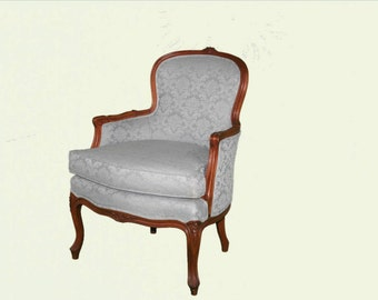 Light Blue French Antique Arm Chair