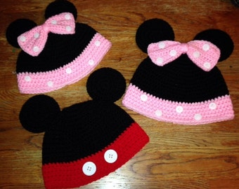 Mickey or Minnie Beanies!