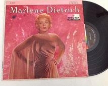 Marlene Dietrich - - Victor Young Orchestra sultry vintage LP