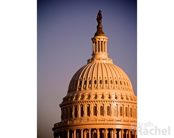 US Capitol Dome. Photo of the dome of the US Capitol, National Mall, Washington, DC. Limited edition gallery wrap canvas.