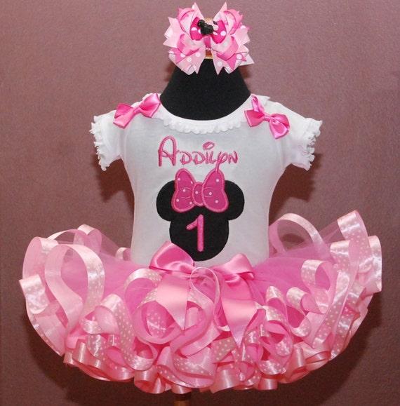 Birthday Tutu Outfit Minnie Mouse First By LittleKeikiBouTiki