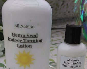 All Natural Indoor Tanning Lotion with Hemp Seed Oil