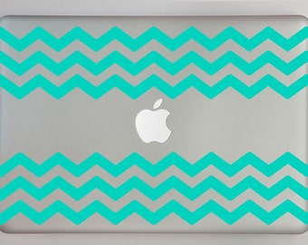 Chevron patterned Macbook Laptop Decal